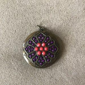 Jewelry - Vintage Beaded Locket Charm